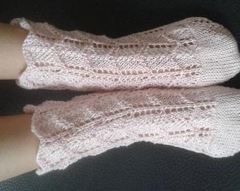 Fine threaded socks for summer, girl/O, handmade (crochet)