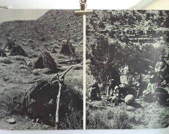 Native American Photograph Print - 2 sided/The Great Basin Native Photograph Print/Paiute Natives Educational Print/Native American Print