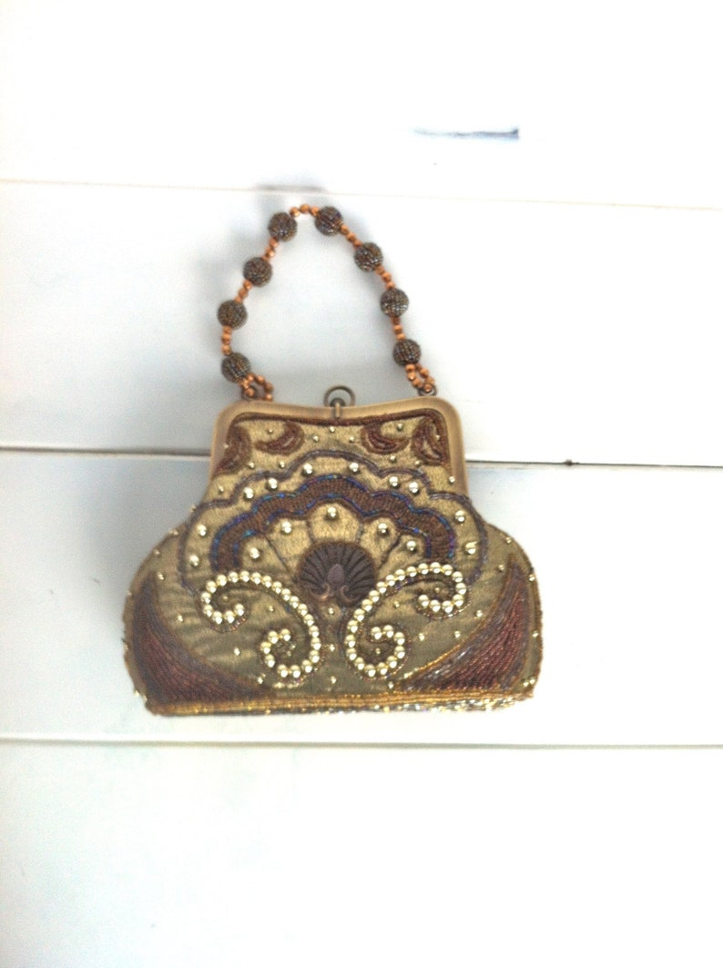118e78fa62b2 Beaded Evening Bag Vintage Beaded Handbag Beaded Clutch Beaded
