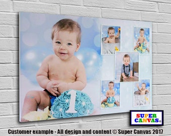 Personalised 6 Picture Photo Collage on Canvas ready to hang