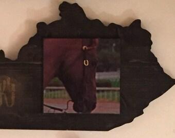 Derby Horse Kentucky Shape Wooden Art