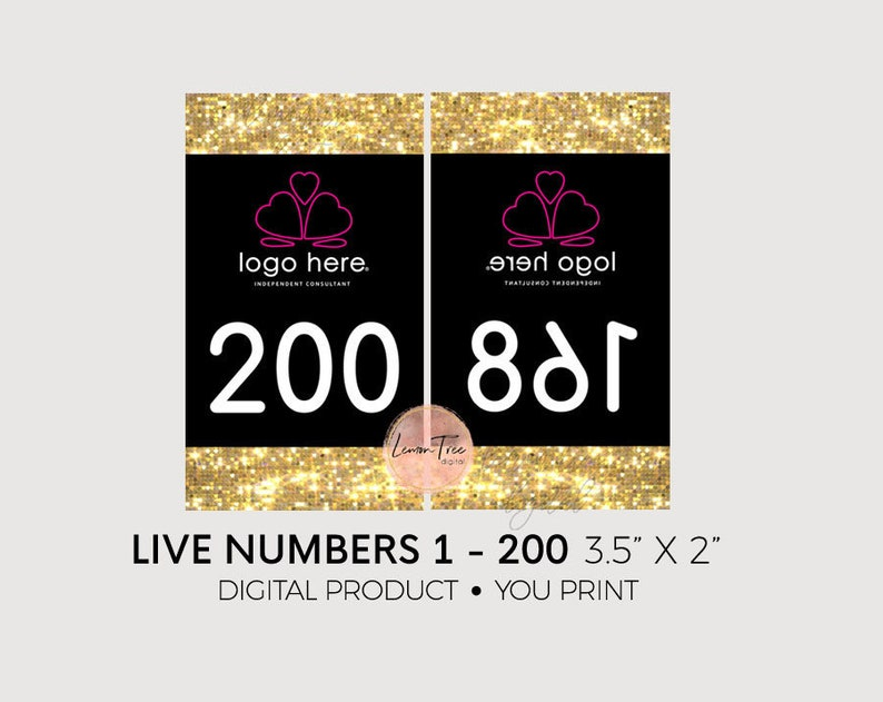 2900f61f83073 Facebook Live Numbers Gold Glitter, Live Sale Number Tags, Live Sale Cards,  Live Sale Numbers, Number Tags for a Live, Number Cards, PP16