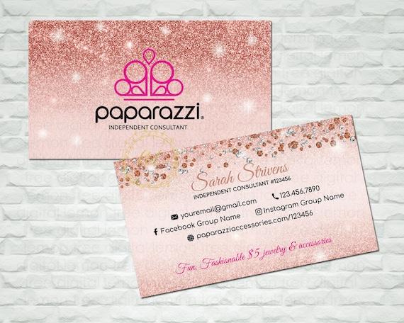 Paparazzi Business Cards Paparazzi Business Card Paparazzi Etsy