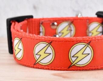 The Flash Adjustable Dog Collar / marvel / DC / Melody's Pet collars / super hero