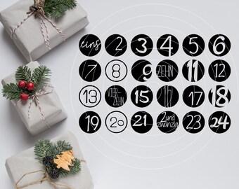 Plotterdatei - Adventskalender Zahlen