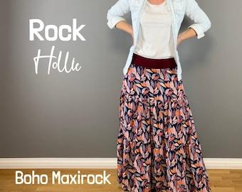 Rock Hollie * langer, weiter Boho Maxirock * 34 – 50 * A4, A0, Beamer