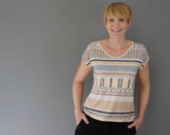 Shirt Ella * angeschnittene Ärmel * XS – XL * A4, A0, Beamer