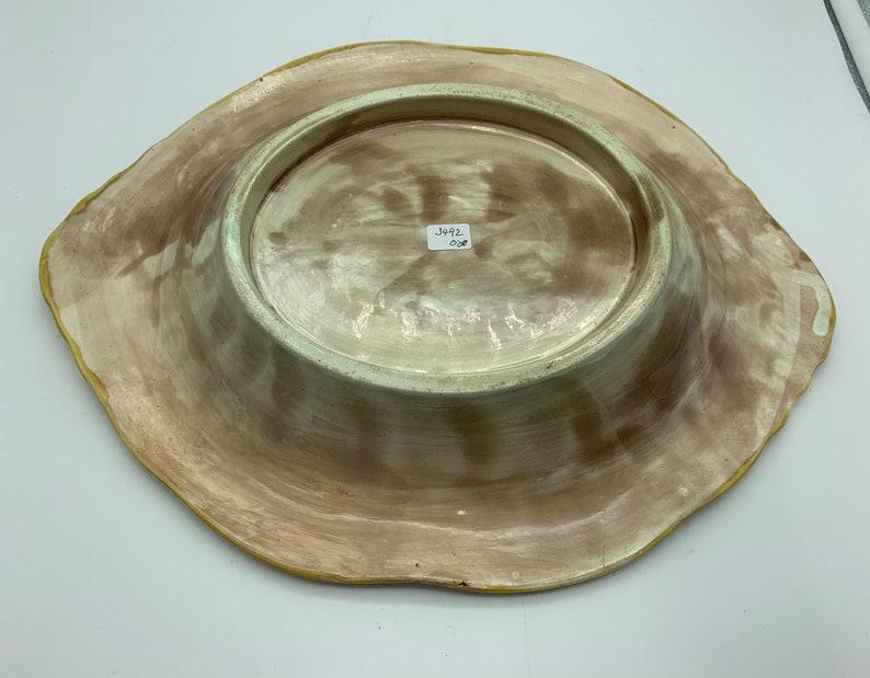 Antique English Majolica Pottery Bread Plate circa 1865