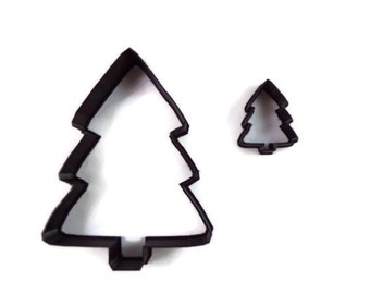 Christmas Tree Cookie Cutter - Christmas Tree Fondant Cutter - Holiday Tree Cupcake Topper - Christmas Cookie Cutters