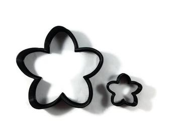 Cherry Blossom Cookie Cutter - Cherry Blossom Flower Fondant Cutter - Flower Cupcake Topper