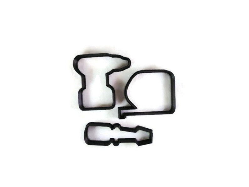 Tool Set Cookie Cutter Set - New Homeowner Cupcake Topper - Father's Day  Fondant Cutter - Father's Day Gift - Tool Box Cookies - Tool Cookie