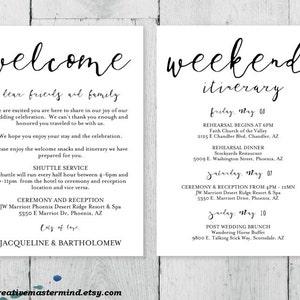Welcome bag DIY Wedding Door Hanger Template Newlyweds Guest door hanger #1CM 87-1 editable door hanger Digital Instant Download