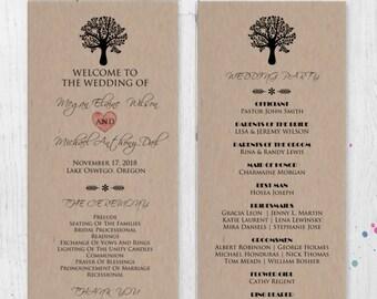 wedding ceremony program template printable diy printable etsy