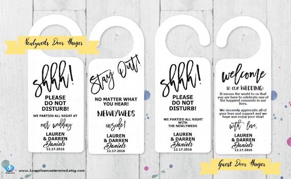 DIY Hochzeit Tür Kleiderbügel-Vorlage Brautpaare Gast