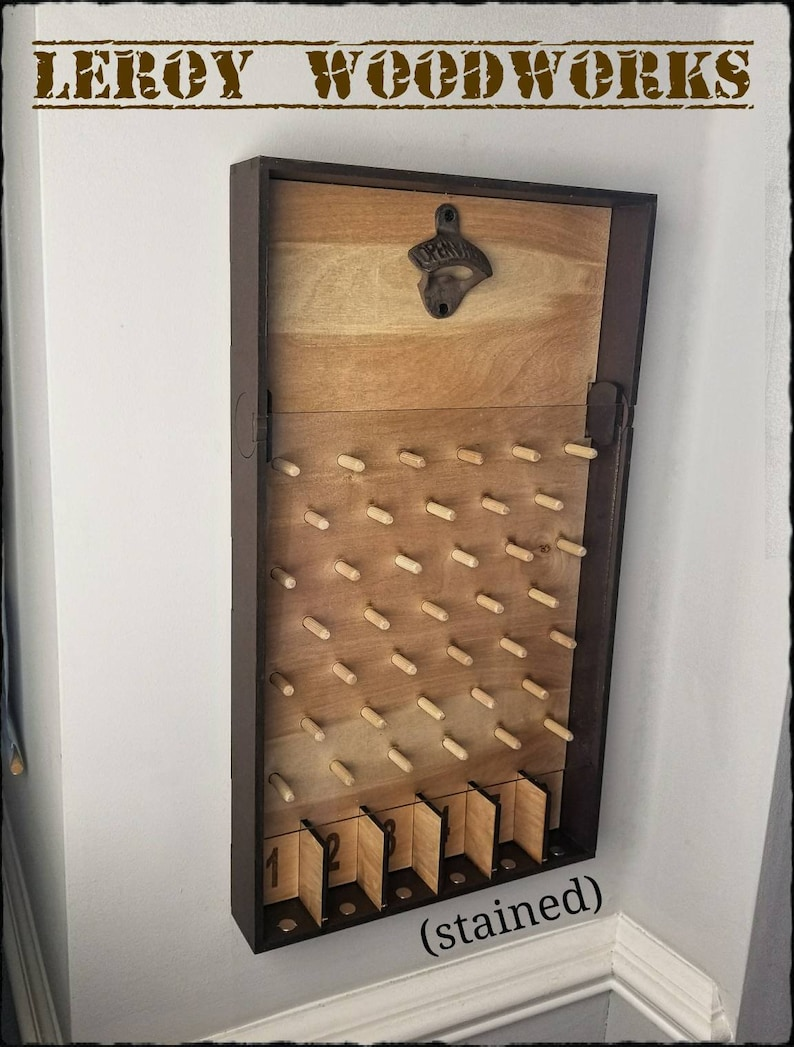 CUSTOMIZABLE Magnetic Bottle Opener Plinko Board Drinko image 0