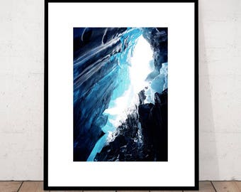 Glacier Print Art Photography Wall Landscape Decor Modern Minimalist Nature