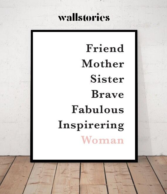Woman Definition Woman Print Wall Art Print Quote Print Definition Print Minimalist Minimalist Print Mother Gift Sister Print Woman