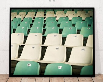 Seats in a Row Print, Numbered Seats Photography, Modern Art Photography, Seats Print, Seats Wall Art, Sports Seats Print, Sport Seats Photo
