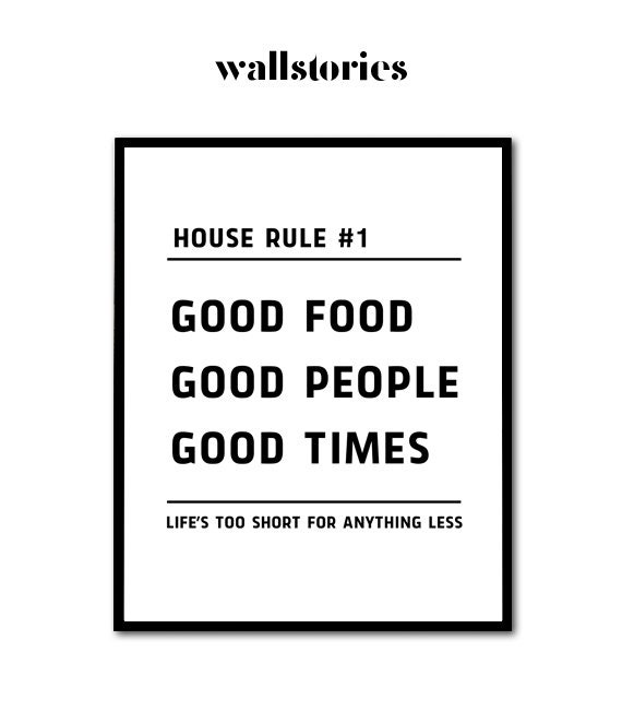 Kitchen Print Kitchen Poster Food Quote Typography Print Etsy