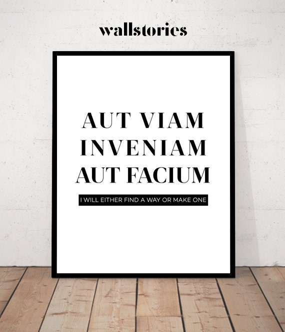 Latin Print Wise Words Zitate über Latein Latin Quote Office Decor Latin Motivational Poster Motivational Art Latin Wall Art Latin Art