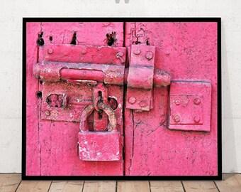 Padlock Print, Padlock Photography, Modern Art Photography, Door Lock Print, Padlock Wall Art, Lock Decor, Lock Close-up, Lock Photography