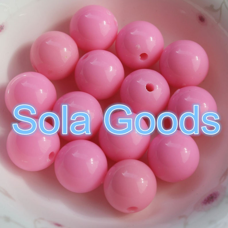 8 10 pink round acrylic miracle beads options for size 4 12 mm* 6