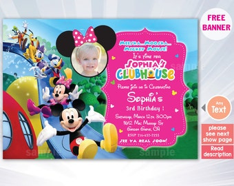 Minnie Mouse Chalkboard Poster First Birthday