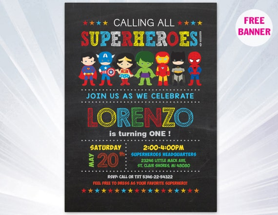 super hero invitation superhero invitation templates etsy