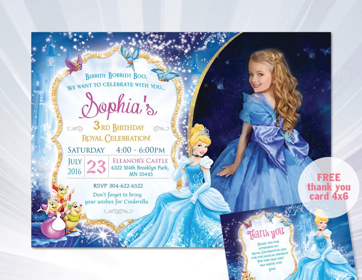Princess cinderella invitation cinderella birthday etsy zoom filmwisefo