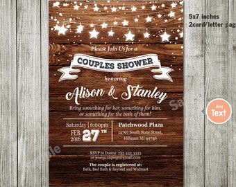 Couples or Coed Bridal Shower Printable Invitation-I Do BBQ, Chalkboard, Mason Jar, Wedding Couples invitation couples party