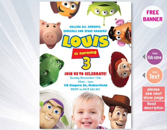 Toy Story Template Invitations Koran Sticken Co