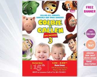Toy Story Invitation Toy Story Birthday Party Toy Story