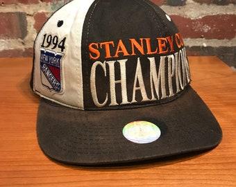 bd8d8340743ef Vintage New York Rangers 1994 Standley Cup Champions Snapback Hat  Adjustable Tri Power By Starter