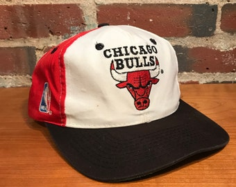 f0fe334e65f Vintage Chicago Bulls Backscript Snapback Hat Adjustable Script Rare 90s  Sports Specialties