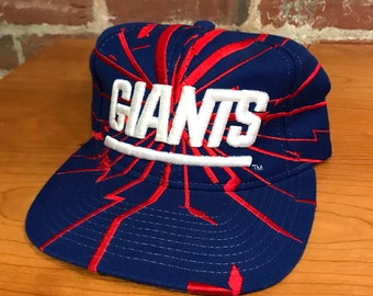 Vintage New York Giants Crack Print Earthquake Snapback Hat Adjustable  Football By Starter ffc377ed4