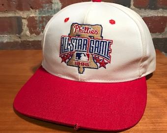 2ce4ee6ab4d7d Vintage Philadelphia Phillies 1996 All Star Game Snapback Hat Adjustable Baseball  MLB by Twins Enterprises