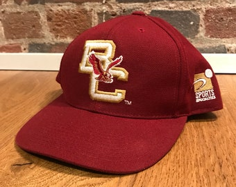 31ea3f24317 Vintage Boston College Eagles Plain Logo Snapback Hat Adjustable BC 90s by  Sports Specialties