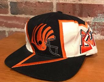 078bf4f5aad5b Vintage Cincinnati Bengals Graffiti Snapback Hat Adjustable NFL Football  Rare Drew Pearson