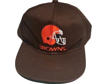 Vintage Cleveland Browns Snapback Hat Adjustable NFL Football By AJD a0a41df8f29b