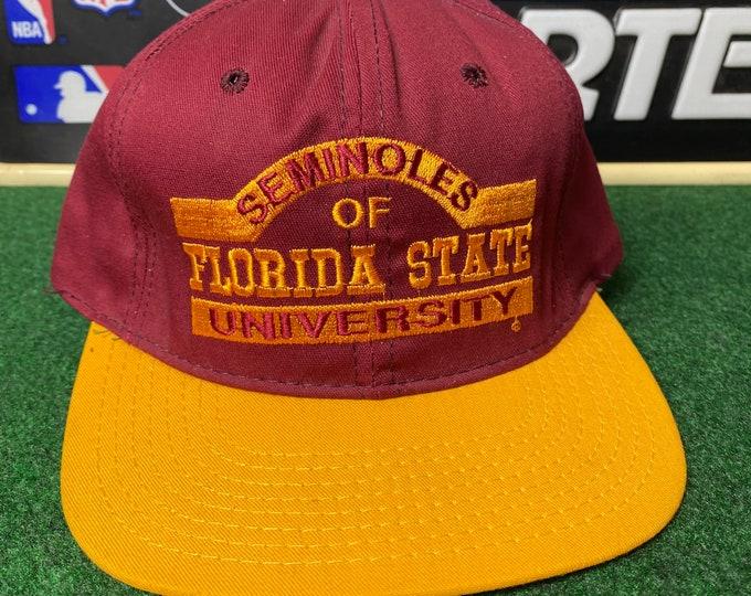Vintage Florida State University Seminoles Snapback Hat Adjustable FSU By P Hats