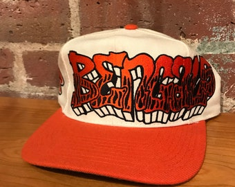 Vintage Cincinnati Bengals Graffiti Snapback Hat Adjustable NFL Football  Drew Pearson Rare 07520ed58