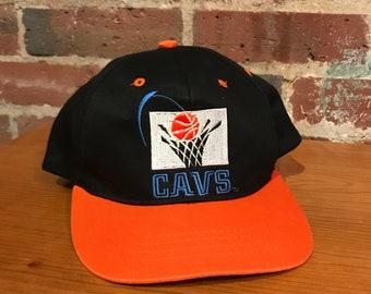 9fe1d0f301830 Vintage Cleveland Cavaliers Cavs Snapback Hat Adjustable NBA Basketball  Youth Boys