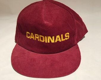 ff954f2f590 Vintage Arizona Cardinals Corduroy Snapback Hat Adjustable 80s NFL Football  By Starline