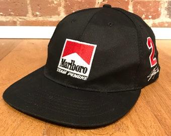 457d7321241 Vintage Marlboro Racing Team Snapback Hat Adjustable Penske Formula 1