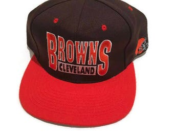 Vintage Cleveland Browns Snapback Hat Adjustable NFL Football by Drew  Pearson.  25.00 · Vintage Magilla Gorilla Toon Blockhead ... f1cb3eb49c9d