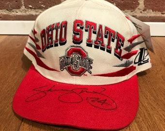 2114ce993bd76 Vintage Ohio State Buckeyes Snapbacks Hat Adjustable Diamond Spike 90s  Autographed By Logo Athletic