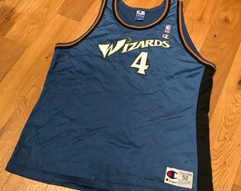 79536a44007 Vintage Chris Webber Washington Wizards Basketball Jersey 90s Champion Size  52 XXL