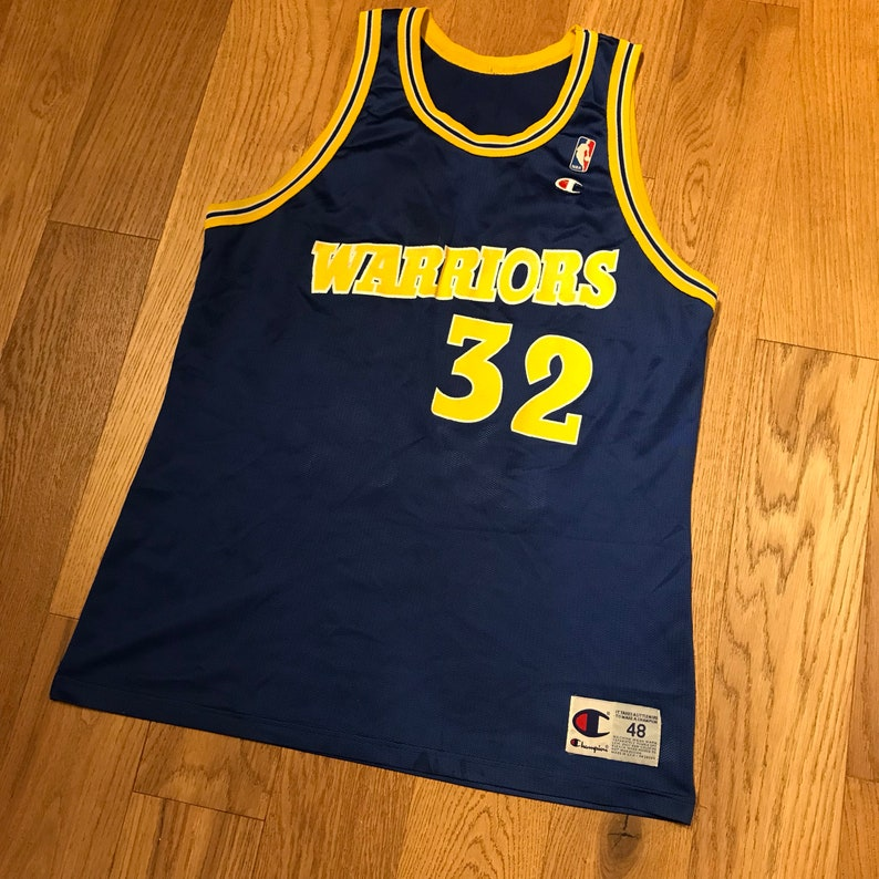 brand new 0b71a ab4ee Vintage Joe Smith Golden State Warriors Basketball Jersey NBA Throwback  Uniform Champion 48 XL
