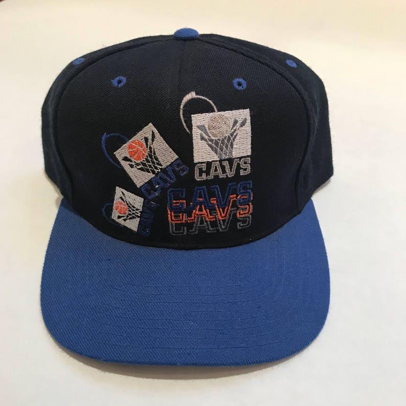 656ebadf6a0 Vintage Cleveland Cavs Cavaliers Snapback Hat Adjustable NBA