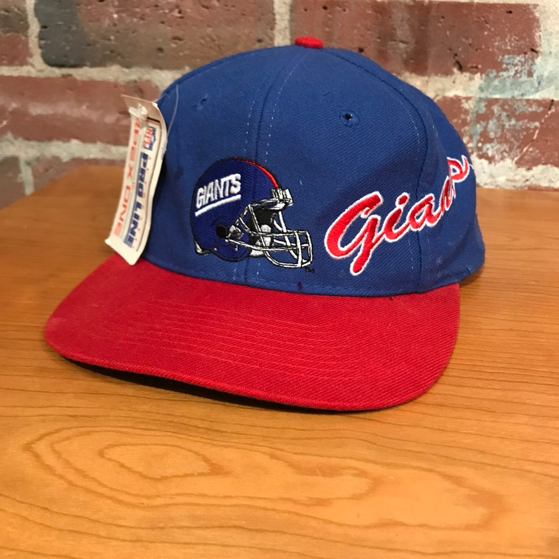 f106a15dea3 Vintage New York Giants Snapback Hat Adjustable 90s NFL